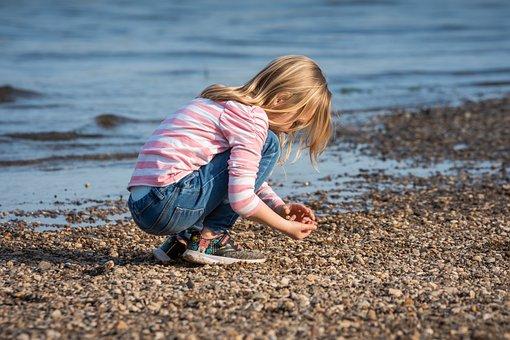 Child, Play, Beach, Girl, Water