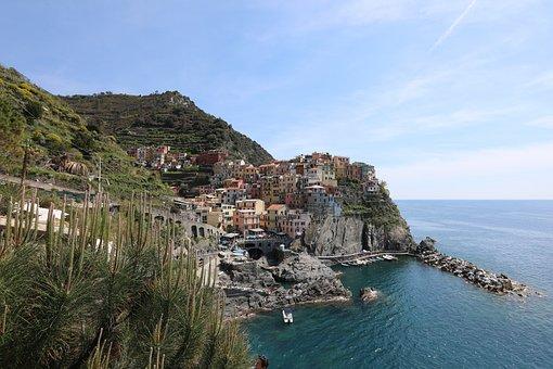 Village, Sea, Italy, Landscape