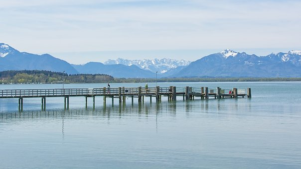 Landscape, Upper Bavaria, Chiemsee, Mountains, Panorama
