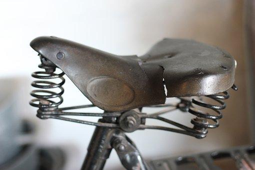 Saddle, Bike Seat, Seat, Bike, Vintage, Old, Retro