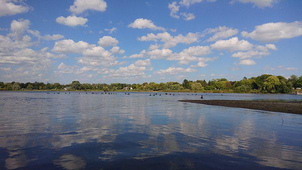 Lake, Sky, Water, Clouds, Nature, Reflection, Summer