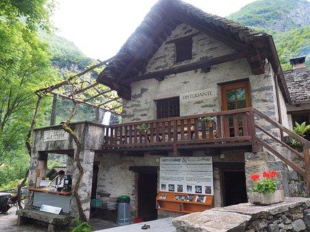 La Froda, Tavern, Restaurant, Waterfall, Foroglio