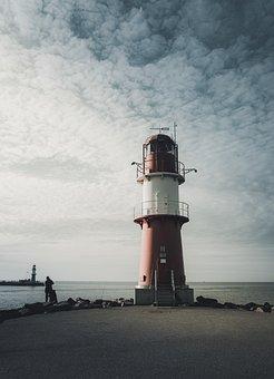 Baltic Sea, Lighthouse, Coast, Tower, Sky, Nature