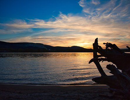 Sunset, River, Water, Nature, Dusk, Sky