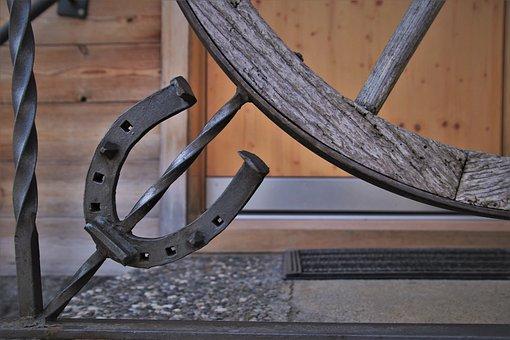 Entrance, Rustic, Weathering, Horseshoe, Metal, Steel