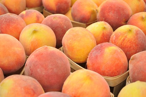 Peaches, Fruit, Market, Summer, Healthy, Fresh, Ripe