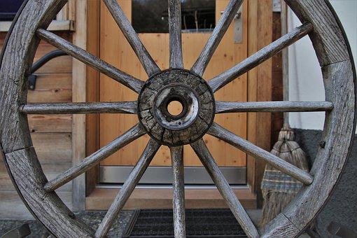 The Door, Entrance, Target, Closed, Wooden, Wheel