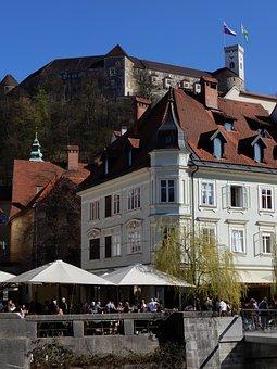 Slovenia, Ljubljana, Castle, The Old Town