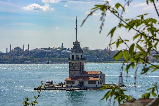 Istanbul, The Maiden's Tower, Date, Turkey, Marine