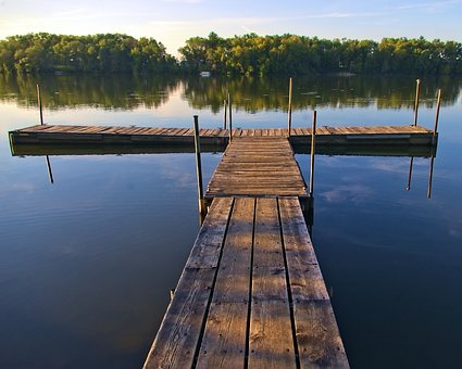 Beeds Lake Boat Dock, Lake, Pier, Water, Nature, Sky