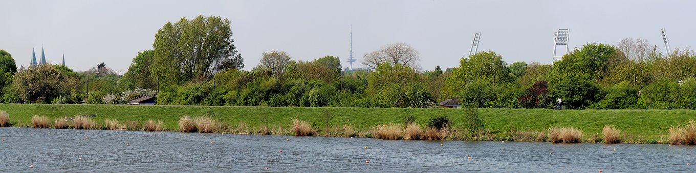 Germany, Bremen, Have Hausen, Spring, Werdersee