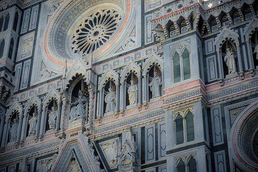 Frontage, Church, Cathedral, Dome, Florence, Holiday