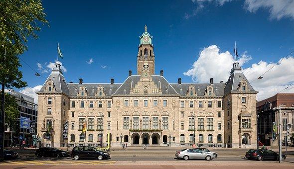 Rotterdam, Town Hall, Coolsingel, City, Street