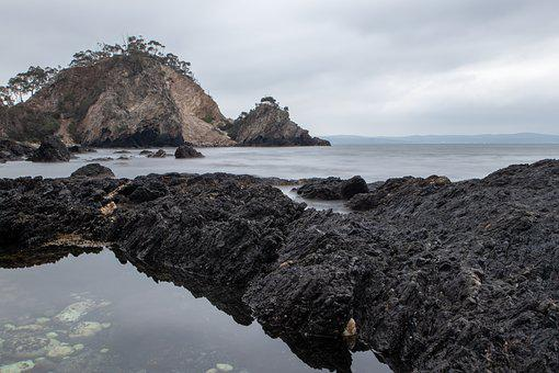 Beach, Rocks, Waves, Water, Ocean, Cliff, Sea, Rock