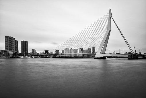 Erasmus Bridge, Slow Shutter Speed, The High And Mighty