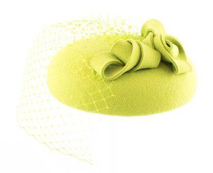 Fascynator, Hat, Headgear, Felt, Felt Green