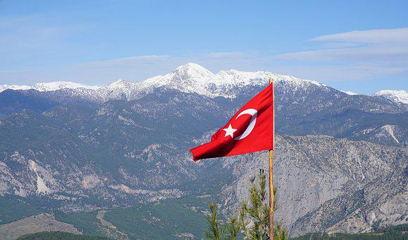 Turkey, Turkish, Flag, Red, Country, National, Sky