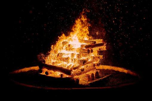 Easter Fire, Wood, Heat, Flame, Campfire, Fire, Customs