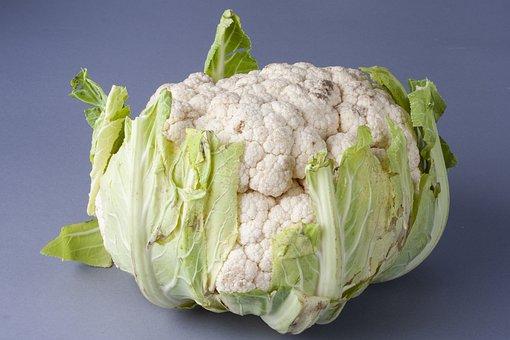 Cauliflower, Vegetable, White, Green, Fruit, Healthy