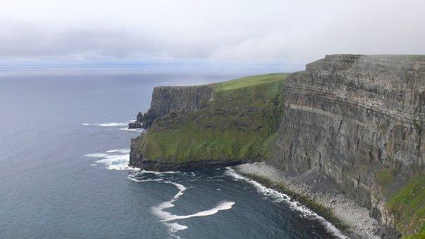 Moher, Ireland, Landscape, Cliffs, Coast, Sea, Ocean