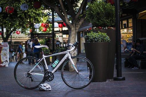 Bike, Little, Tokyo, Los Angeles, La, Active, Lifestyle