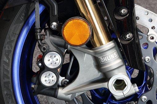 Motorcycle, Yamaha, Motor, Wheel, Tire, Brake, Braking