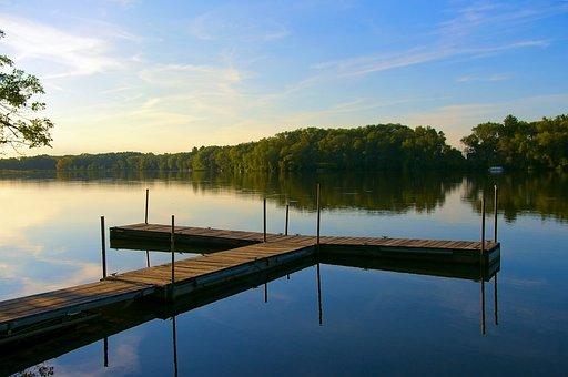 Dock On Beeds Lake, Lake, Pier, Water, Nature, Sky