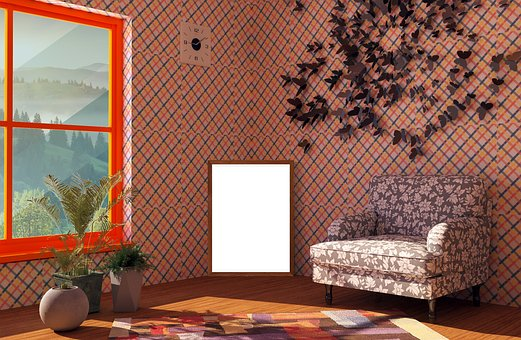 Interior, Furniture, Poster, Lamp, Carpet, Sofa