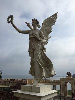 Angel, Statue, Sculpture, Monument, Bronze