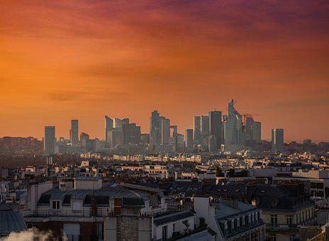 Paris, Tourism, Sky, France, Travel, Clouds, Sunset