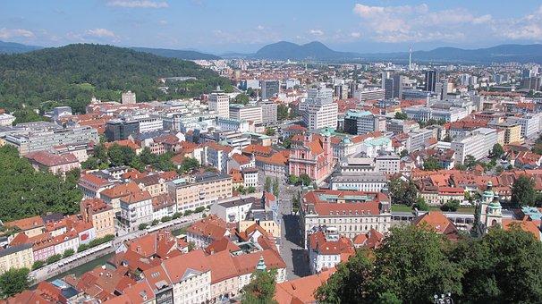 Slovenia, Ljubljana, Architecture, Old Town