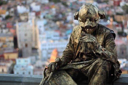 Copper, Man, Miner, Guanajuato, Figure, Statue, Human