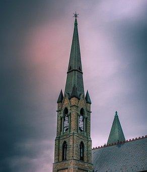 Steeple, Church, Sky