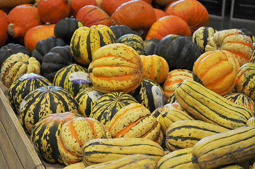 Gourds, Farmers Market, Yellow, Orange, Vegetables