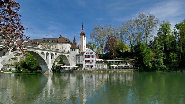 Landscape, Architecture, Switzerland, Aargau