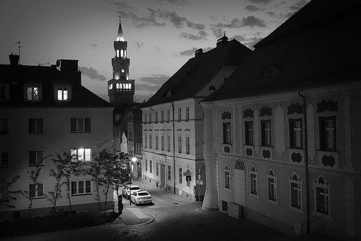 Opole, The Town Hall, The Centre Of, City, Twilight