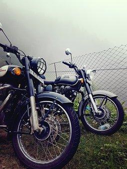 Bullet, Royal, Mist, Enfield, Motorcycle, Bike, Classic