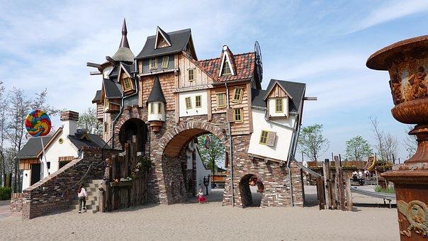 Fairy Tale, Snoephuis, Play Park, Theme, House, Castle