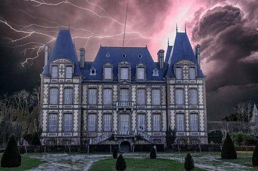 Castle, Mystical, Horror, Night, Atmosphere, Fantasy