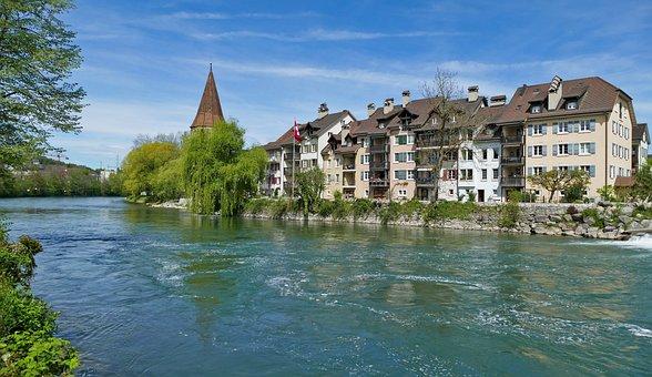Landscape, Architecture, Switzerland, Bremgarten