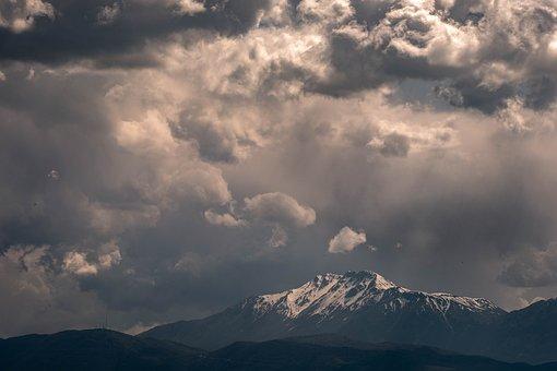 Clouds, Mountains Snow, Landscape, Weather, Nature