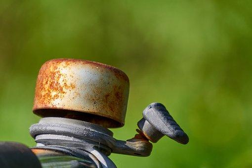 Bike Bell, Bell, Rusty, Old, Broken, Rustic