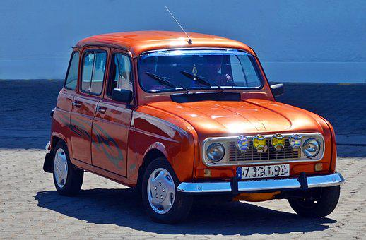Renault, Renault4, R4, Car, Vehicle, Old, Classic
