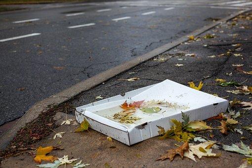 Pizza Carton, Weather, Garbage, Paper, Paper Carton