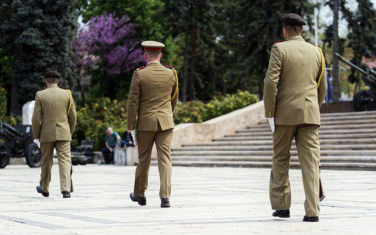 Military, Uniform, Guards, Scrolling, March, People
