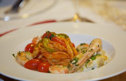 Flat, Restaurant, Fish, Delicious, Gambas
