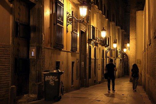 Street, Night, City, Urban, Lights, Road, Architecture