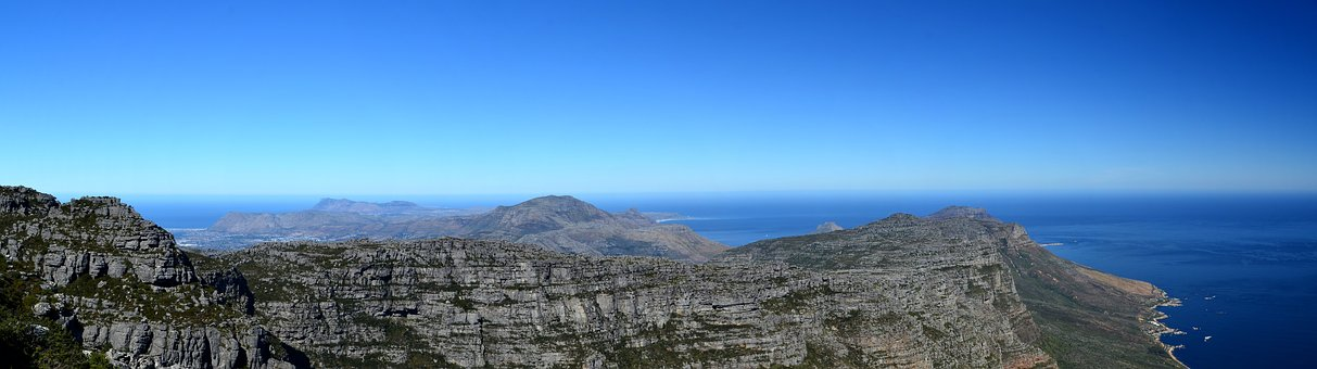 South Africa, Table Mountain, Landscape, Nature, Sea