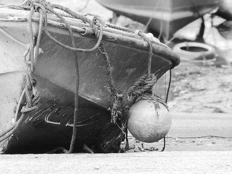 Boat, Harbour, Sea, Float, Dock, Rope, Slipway