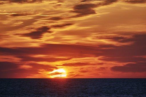 Sun, Burlington, Lake Ontario, Canada, Nature, Sky